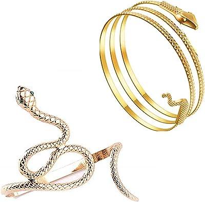 Bracelet En Métal Avec Manchette Ajustable Au Niveau Du Bras Supérieur