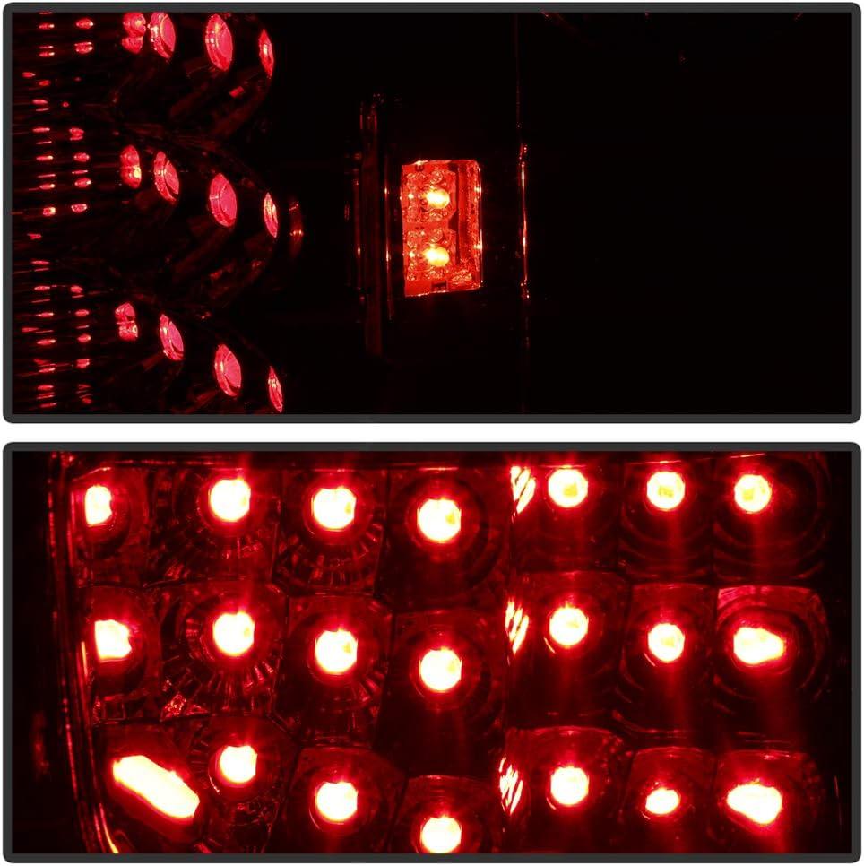 ACANII For 1997-2003 Ford F-150 F150 Flareside Smoked Lens Lumiled LED Tail Lights Brake Lamps Driver /& Passenger