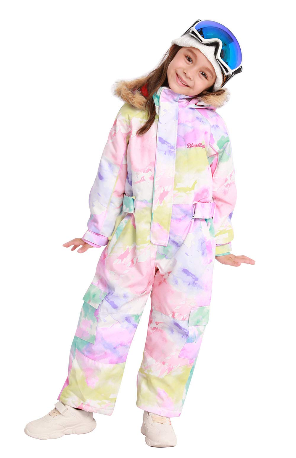 Bluemagic Little Kid's One Piece Overall Snowsuits Ski Suits Jackets Coats Jumpsuits,Water Color,120cm by Bluemagic