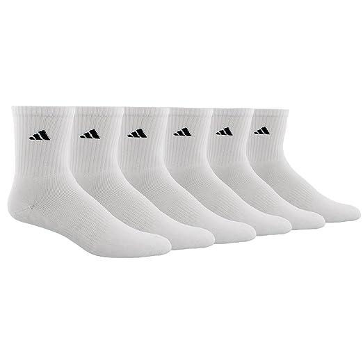 133e2bfe5 Amazon.com: adidas Men's Athletic Mid-Crew Sock, White/Black, Pack ...