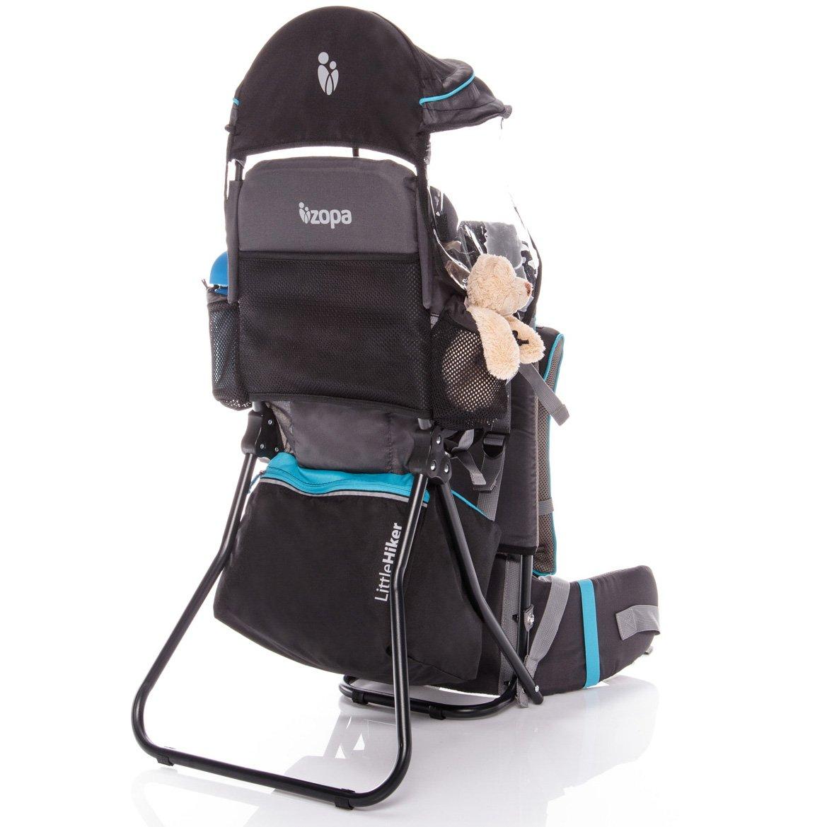 ZOPA Kindertrage Little Hiker - Hö henverstellbarer Sitz, fü r Kinder von 10 Monaten bis 18 kg (Atol Blue)