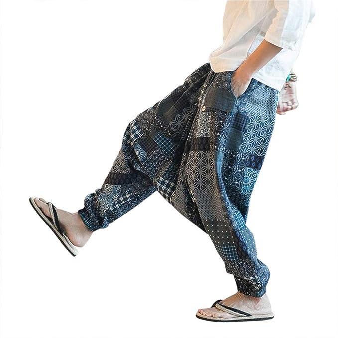 Pantalones de Harén Bombachos Hombre Mujer, Unisex para Yoga ...