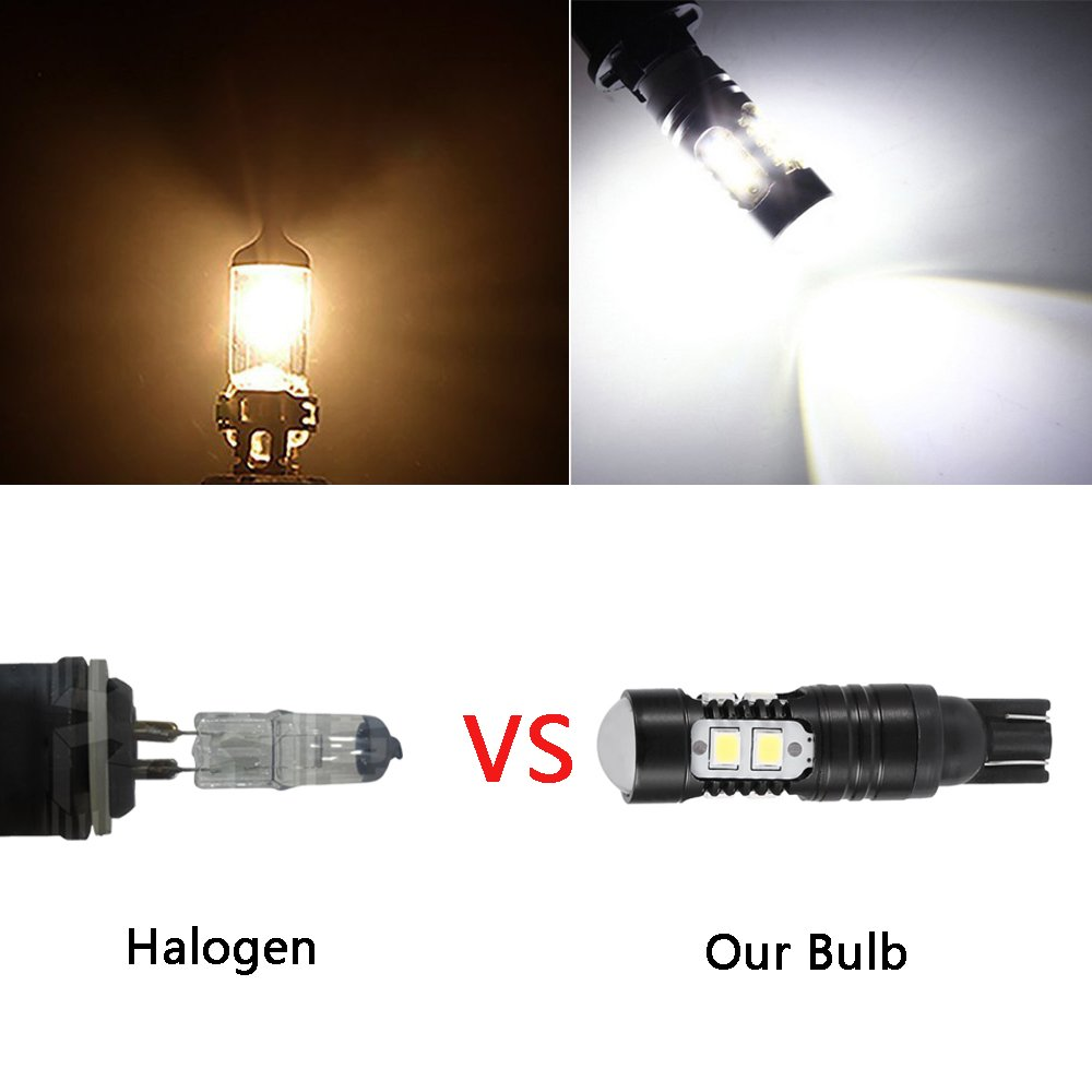 T10 luci di parcheggio Mesllin LED girare luci luci di segnalazione ad alta potenza ultra luminoso 50/W CREE Fog Light bulbs Back up Reverse luci