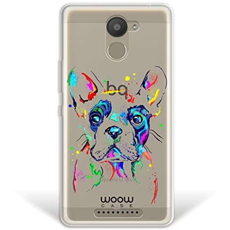 WoowCase Funda Bq Aquaris U Plus, [Hybrid ] Perro Bulldog ...