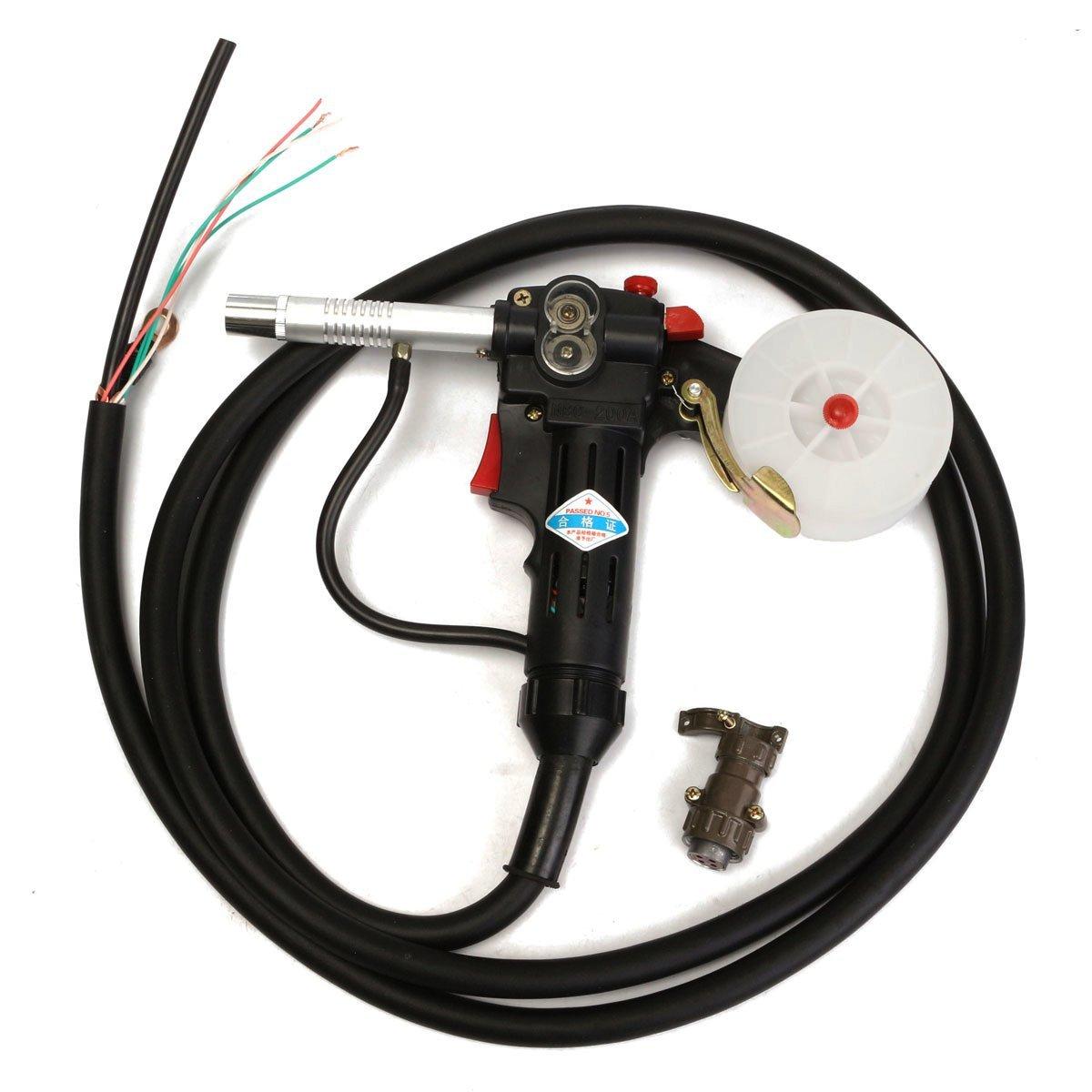 KISENG Spool Gun Gas Shielded Welding Gun Push Pull Aluminum Torch with 3M Cable