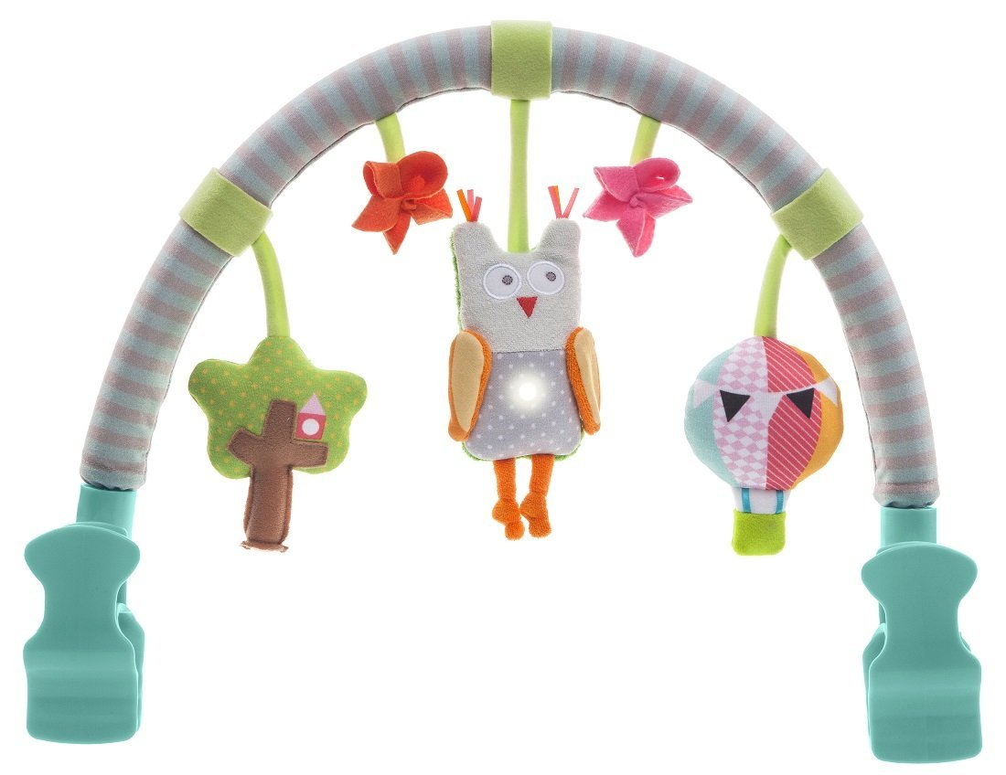 Taf Toys Musical Arch | Best for Infant and Toddlers' That Fits to Stroller & Pram, Activity Bar with Hanging Musical Owl Toy, Easier Outdoors and Easier Parenting, Keeps Your Baby Happy, Ideal Gift by Taf Toys