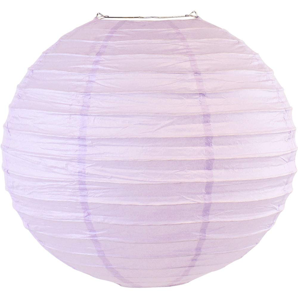 Just Artifacts 8'' Lavender Purple Chinese/Japanese Paper Lantern/Lamp 8'' Diameter - Just Artifacts Brand