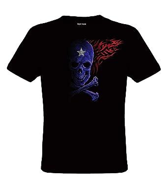Designs Motif Shirt Gothique T Vie Skull Darkart De Mode Tribal XnwP0Ok8