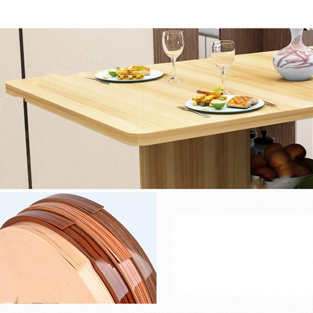 Amazon.com: Mesa plegable extraíble de madera maciza, ruedas ...