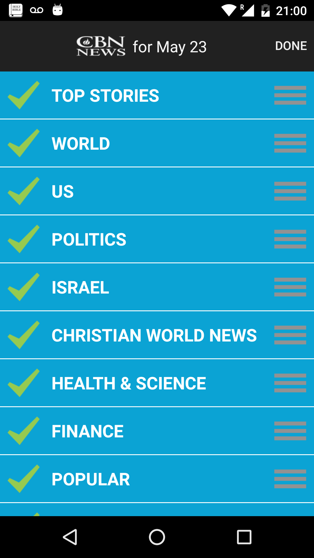 amazon com cbn news appstore for android