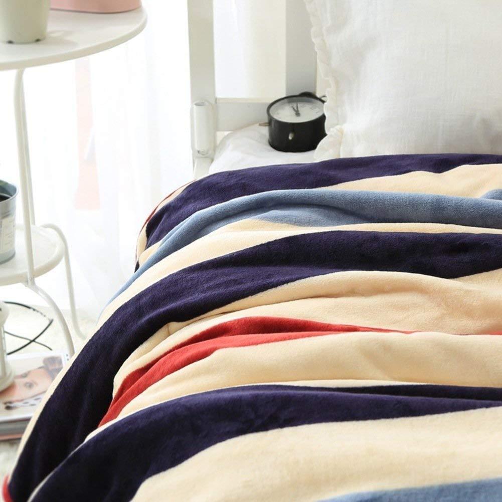 Yunyilian ベッドの裏地の冬の厚くされたフランネルの綿毛布、暖かい単一の二重タオルのキルト毛布 (Color : 180x200cm(71x79inch), サイズ : B) B07SWX4XHJ 180x200cm(71x79inch) B