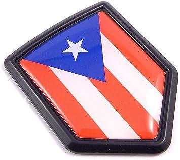 CREST CAR GRILLE EMBLEM BADGES PUERTO RICO