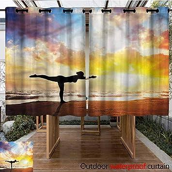 Sunnyhome Cortina de Puerta corredera con símbolo de Chakra Lotus para Sala de Estar: Amazon.es: Jardín