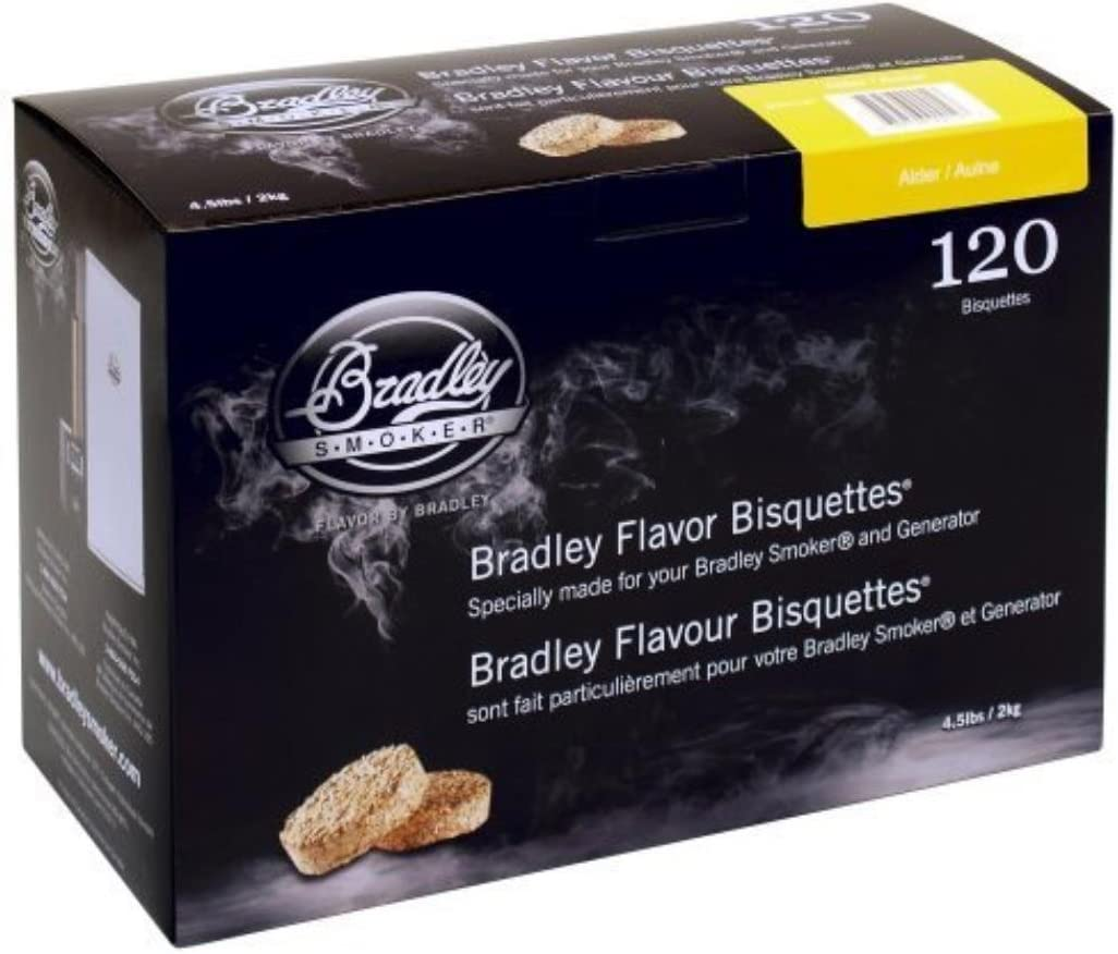 Bradley Smoker Flavor Bisquettes – Box 120 - Alder