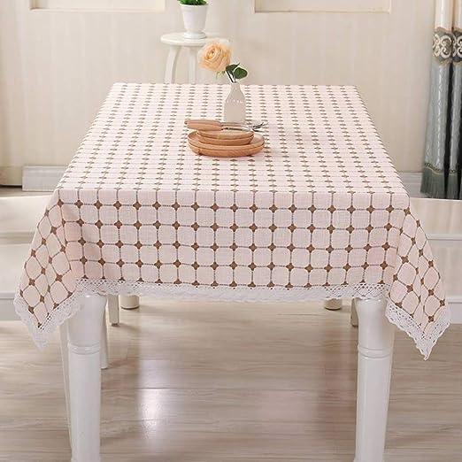 OMAI Hogar Europeo Simple Mantel de Lino de algodón Mesa de café ...