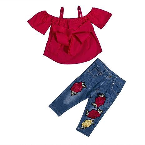 Amazon.com: YDuoDuo 1-6T - Conjunto de pantalones vaqueros ...