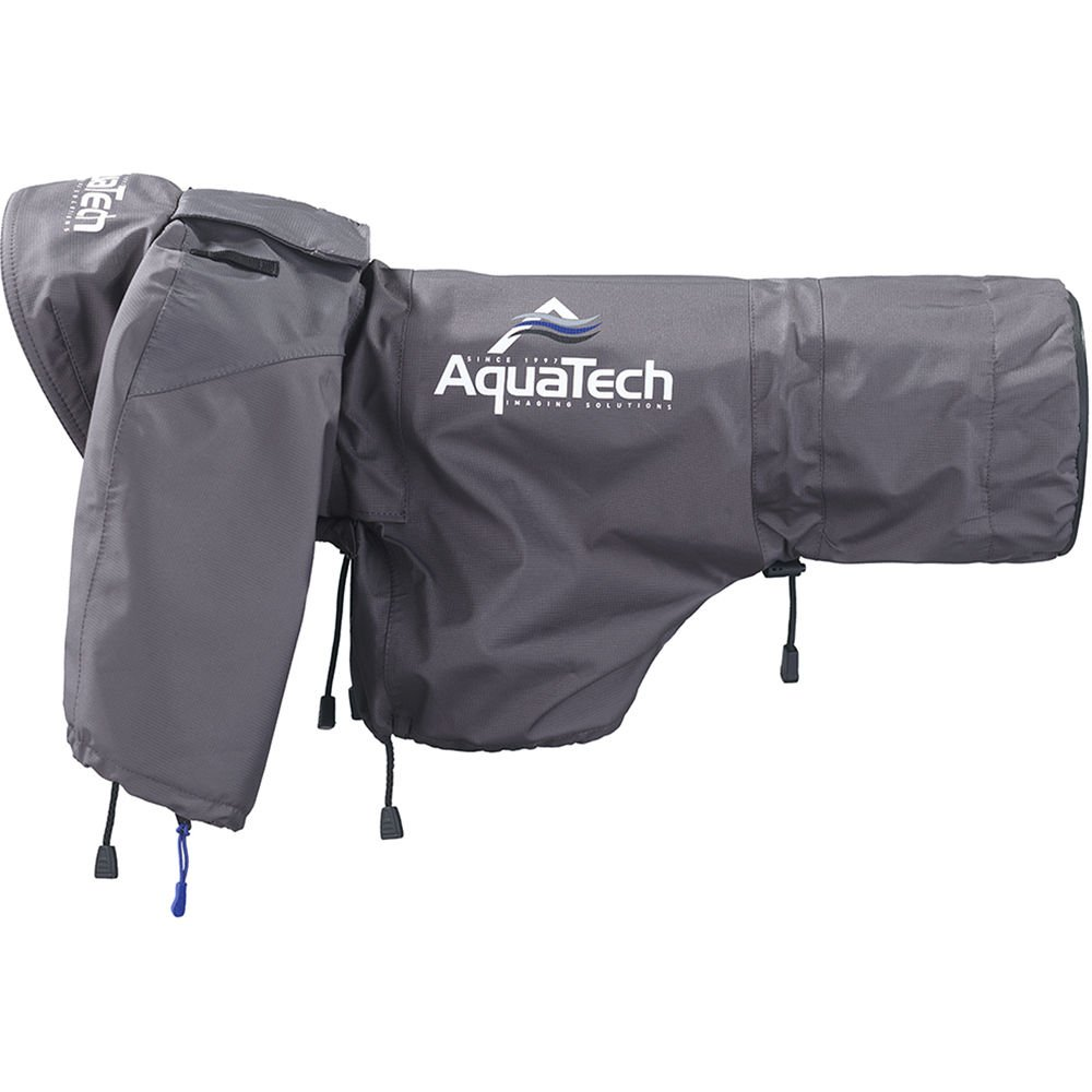 AquaTech Sport Shield Large Rain Cover for Cameras and Lenses, Gray