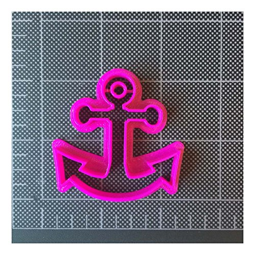 Anchor Cookie Cutter / Fondant Cutter / Cupcake Topper -PLA plastic (2,3 and 4 inch)