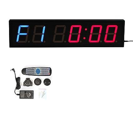 CKB Ltd dígitos LED cuenta atrás intervalo de gimnasio y fitness incluye UK Plug & mando