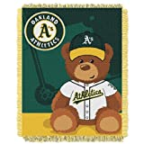 MLB Oakland Athletics Field Woven Jacquard Baby Throw Blanket, 36x46-Inch