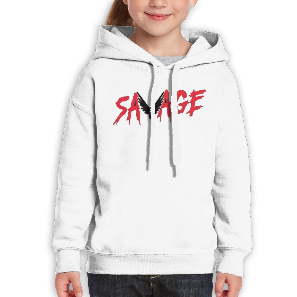 Addie E. Neff Pullover Savage Parrot Logo Logan Paul Logang Boys,Girls,Youth Classic Sweatshirt Pocket Hoodie S White