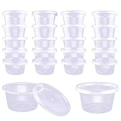 Amazoncom Domire 50 Pack Slime Containers 4oz Clear Storage