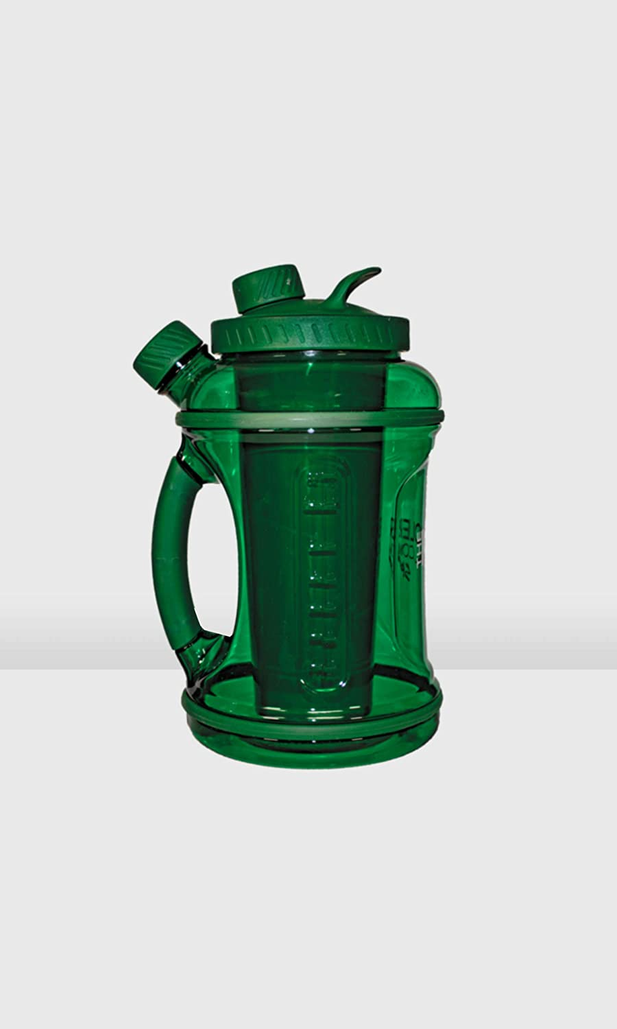 Green Kooler Sport 1//2 Gallon Cooler with Shaker Cup and Removable Protein Powder Cup