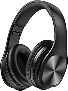Bluetooth Headphones with Mic,Foldable Wireless Over Ear Headphones Wired Mode, 120 Hours Playtime and Soft Memory Protein On Ear Headset for Adult Kids Boy TV PC iPhone Android Cellphone