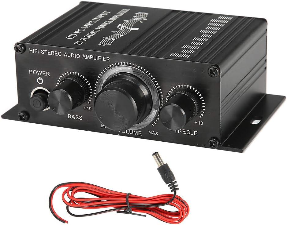 Ordinateur amplificateur de Puissance Audio st/ér/éo 20Wx2 d/écodeur dampli Audio MP3 d/écodeur pour Le Divertissement Prise en Charge du t/él/éphone Portable T opiky Amplificateur HiFi num/érique