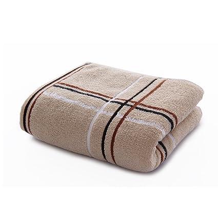 Powerfulline 10789941 - Juego de 4 Toallas de baño absorbentes de algodón Suave con Estampado de