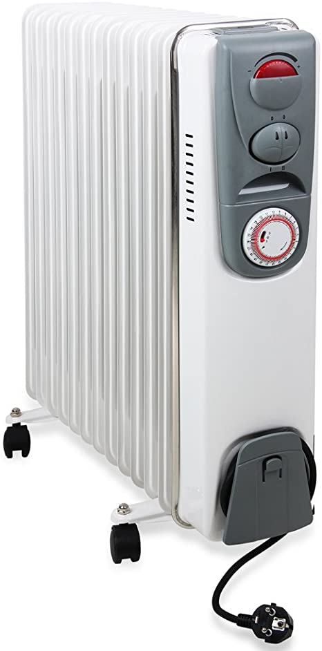 Elektroheizung 1500 Watt /Ölradiator Heater Thermostat /Überhitzungsschutz Heizger/ät Heizk/örper Radiator /Öl Radiator /Öl-Radiator Paneelheizk/örper