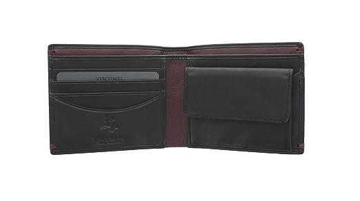 90bb9512fa 6 opinioni per Portafoglio in Pelle Collezione MONTREUX Visconti Alpine  AP62 Nero/Borgogna