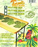 Hawaiian Tropical Picnic Tablecloth (Fits 6 feet picnic tables, spicing up any party)