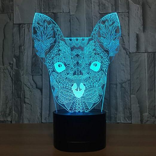 WZYMNYD Nuevo Colorido 3d Luces Acrílico Ilusión 3D táctil ...