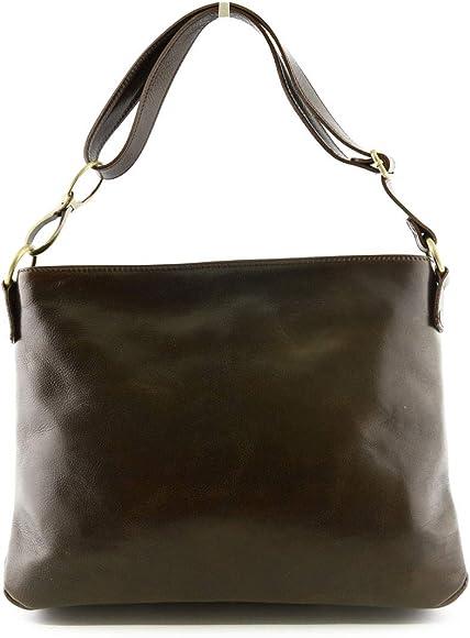 Genuine Leather Woman Shoulder Bag Color Brown