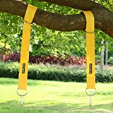 Startostar 2 Tree Swing Hanging kit,42 inch Tree Swing Strap with Carry Pouch & 2 Safety Lock Carabiner Hooks, Holds Up to 1800 lbs, Easy Installation for Tire,Hammocks,Battle Rope Training - Yellow