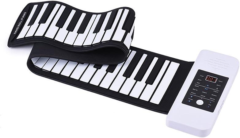 ammoon Silicona Portátil 61 Llaves a Mano Roll Up el Piano Teclado Electrónica USB con una Función de Batería de ion-litio y Altavoz