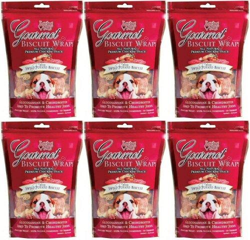 Loving Pets Gourmet Sweet Potato & Biscuit Dog Treat Wrap 3Lb (6 x8oz)