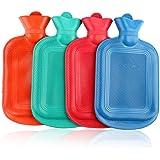 Airlove 手動の湯たんぽ、天然ゴムの温湿布と熱療法用の耐久性のあるお湯バッグ