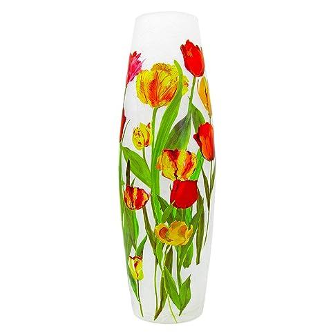 Amazon Stony Creek 12 Tall Lighted Oval Glass Vase Field Of