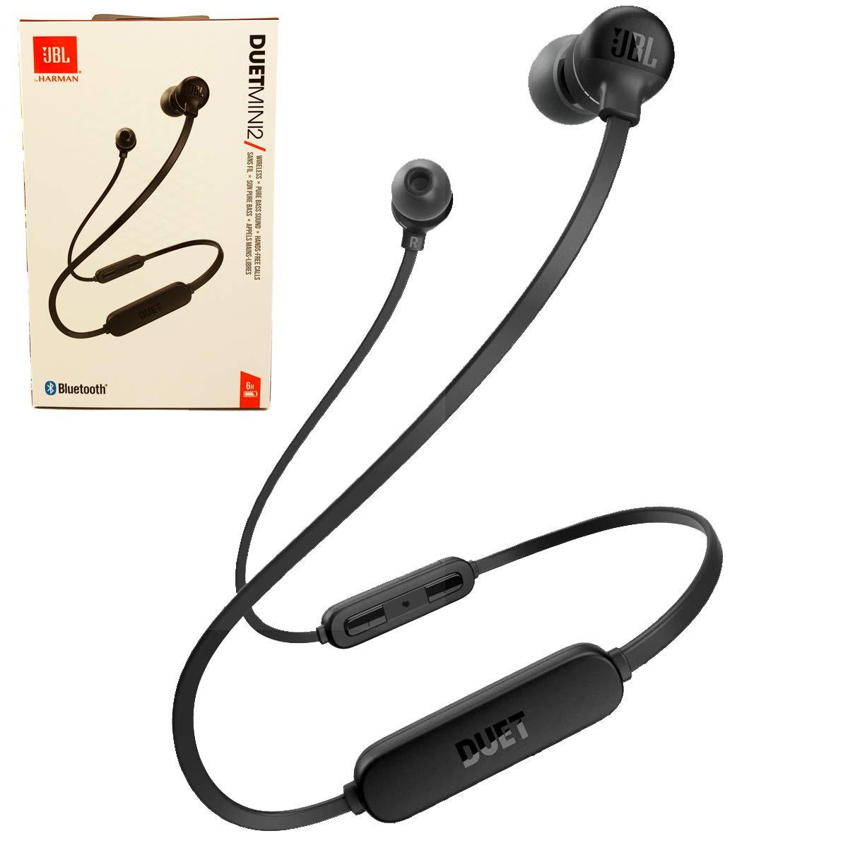 JBL Duet Mini 2 Wireless Bluetooth in-Ear Headphones/Earbuds Hands Free Calls Pure Bass Sound (Black)