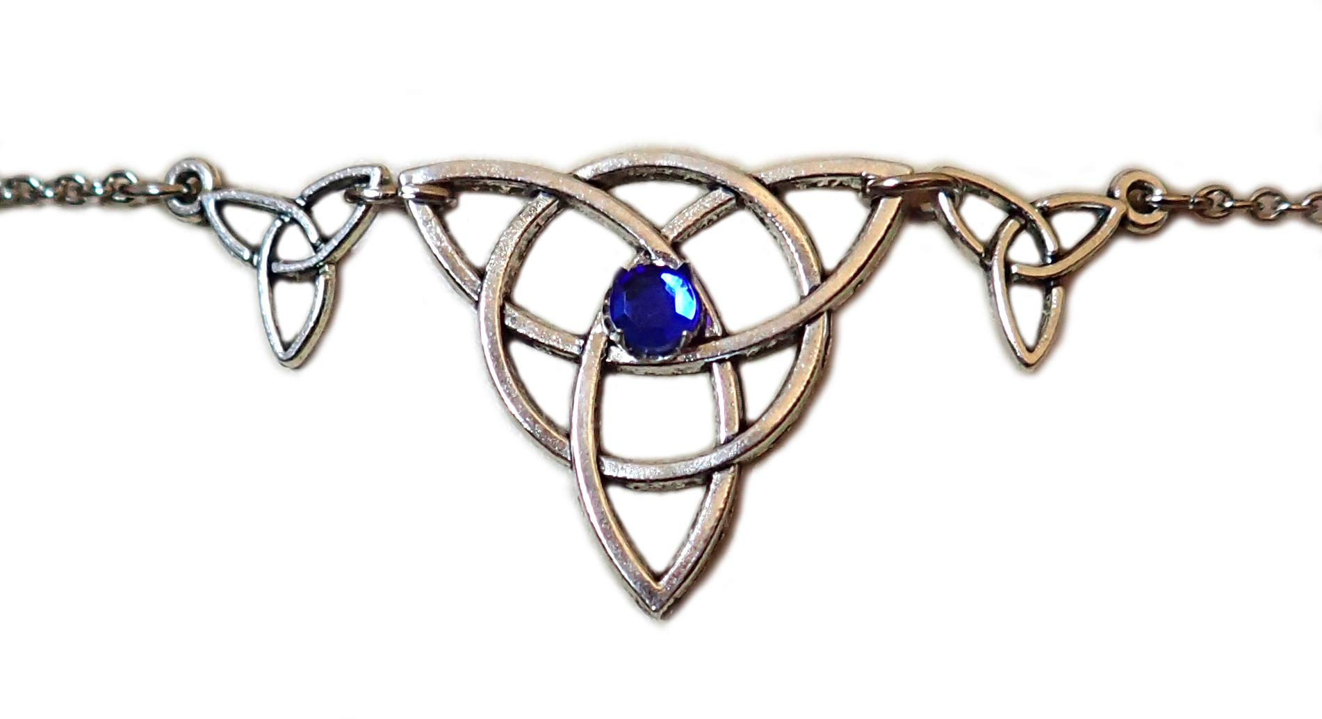 Moon Maiden Jewelry Celtic Triple Triquetra Trinity Headpiece Dark Blue