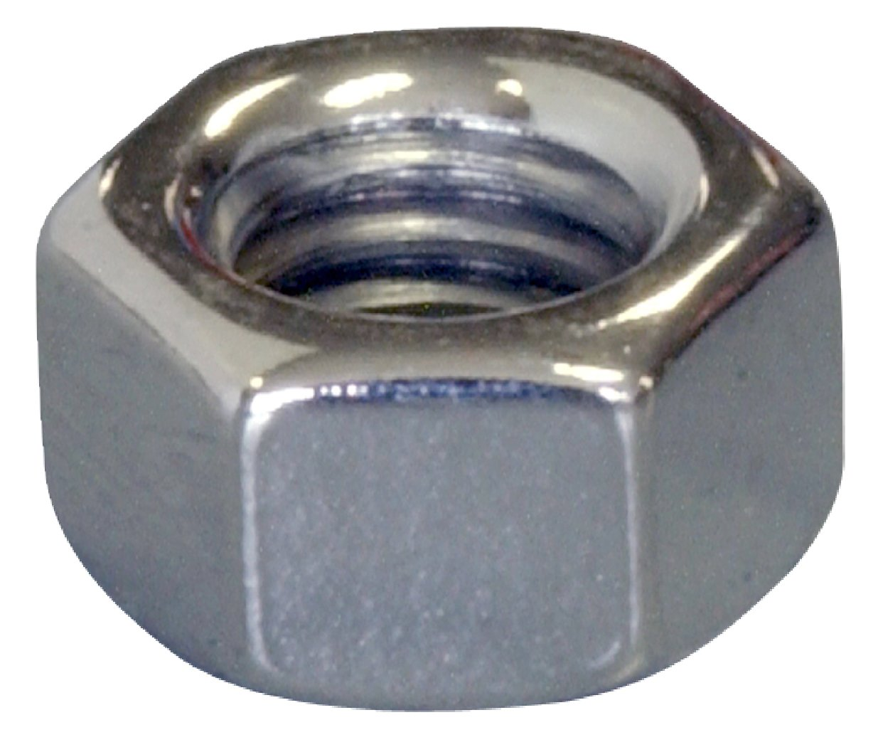The Hillman Group 943860 Chrome Hex Nut M6-1.00 4-Pack