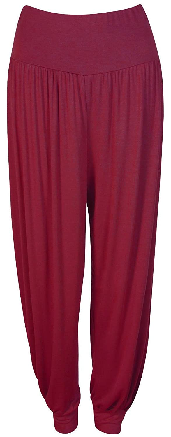 Crazy Girls Womens Hareem Trouser Ladies Plain Baggy Harem Ali Baba Casual Pants