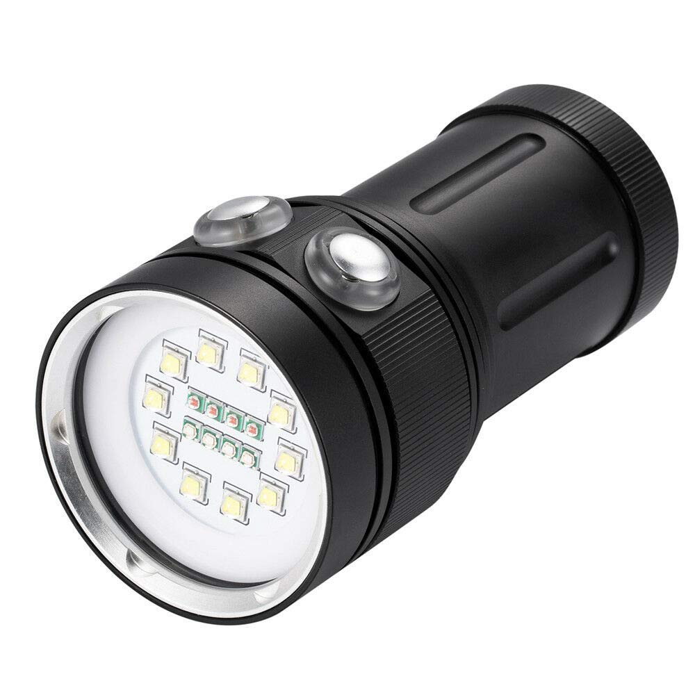 TABODD 18LED Diving Flashlight Underwater Photography Video Hiking Camping Lamp A10 by TABODD