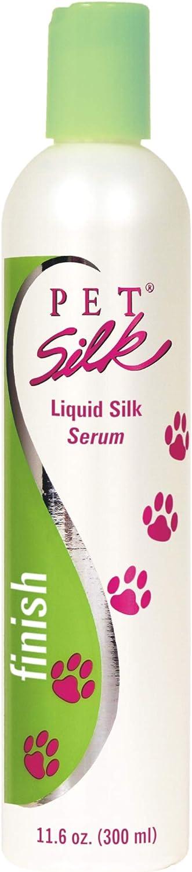 PET SILK Liquid Silk Serum – Dog Finishing Leave in Conditioner for Shiny & Healthy Coat – Pet Detangler with Silk Amino Acids, Vitamin E & Panthenol