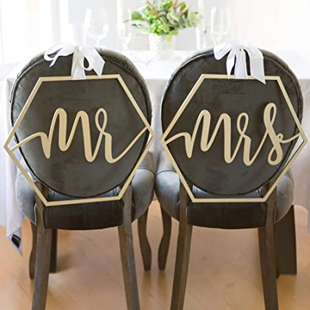 Prosperveil - Cartel de madera para silla de boda con cinta ...