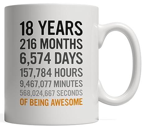 Amazon.com: 18th regalo de cumpleaños 18 dieciocho años de ...