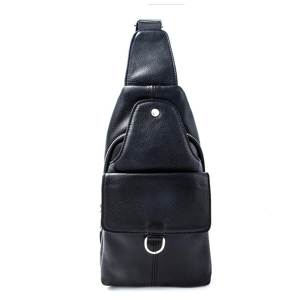 Liuxiaoqing Outdoor Chest Bag Freizeit Umhängetasche Wild Multifunktions Herren Umhängetaschen aus Echtem Leder