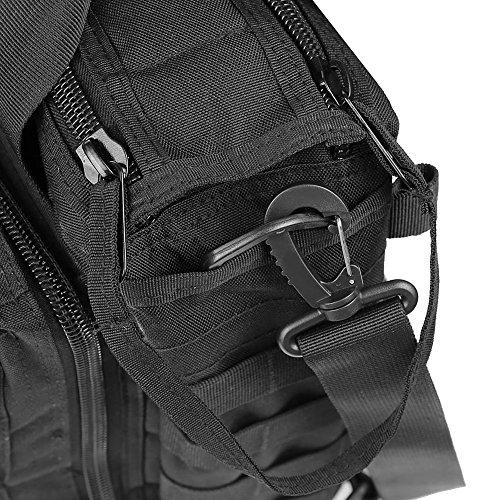 """DSLR Kamera Tasche - SODIAL(R)Multifunktion Maenner Militaere Taktische Aussen Nylon Schulter Kurier Beutel Handtasche Gross genug fuer 14"""" Laptop/ Sony/ Canon/ Nikon/ Olympus/ iPad Schwarz"""